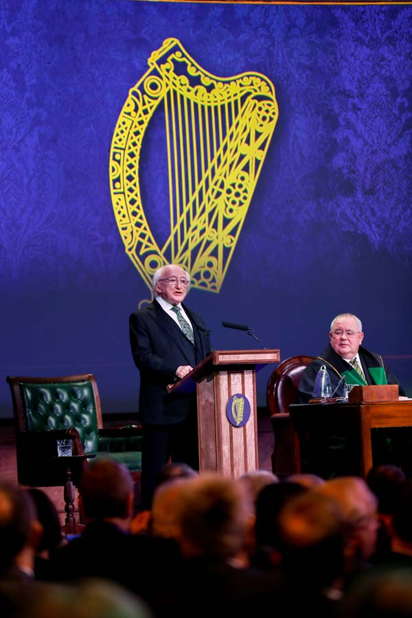 President Michael D. Higgins gives the keynote address at the centenary commemoration